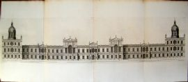 Campbell Vitruvius Britannicus C1720 QUAD Print. Palace of Whitehall Inigo Jones
